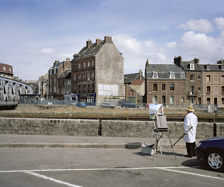 Peintre en plein air (Outdoor painter), Pont Colbert, Dieppe, 2009