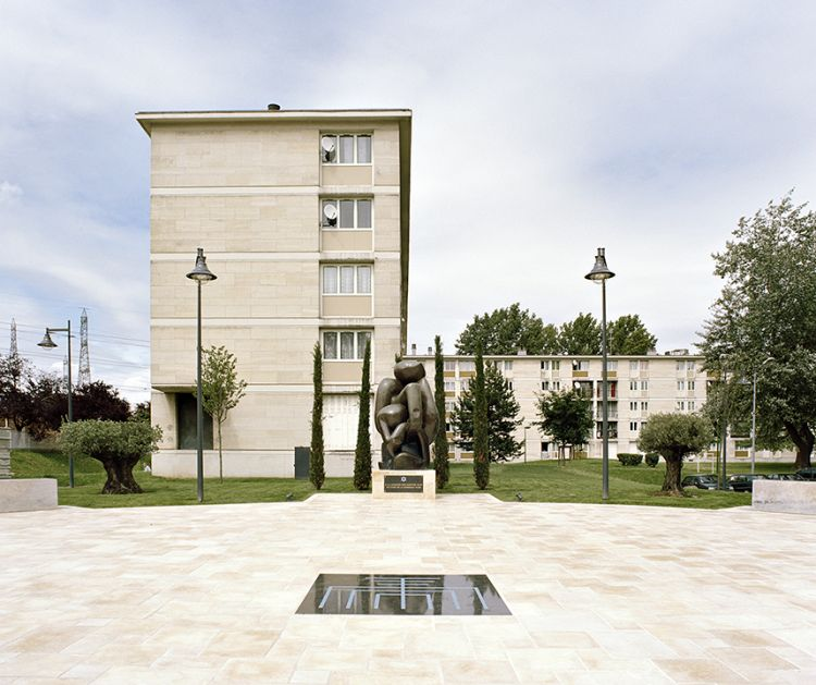 Mémorial aux martyrs juifs (Memorial to Jewish martyrs), Place Raphaël-Yaacov-Israël, Avenue Paul-Valéry, Sarcelles, France, 2012